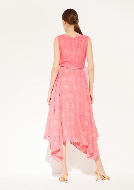 Jacquard dress with wavy hem from comma