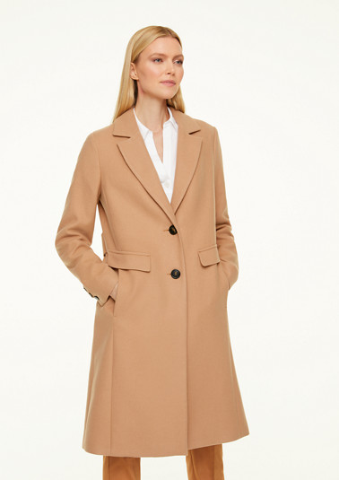 Coat with a cosy finish from comma
