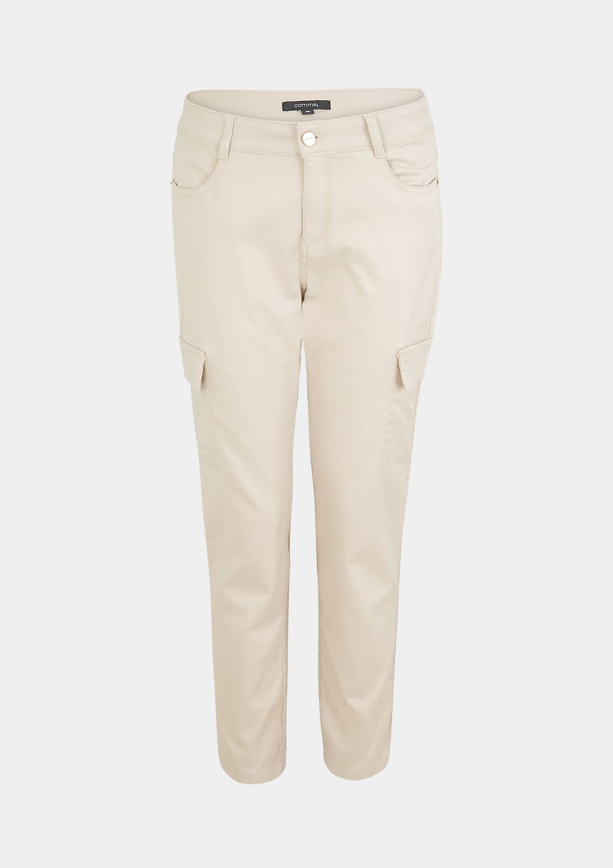 Regular Fit: trousers with decorative pockets from comma