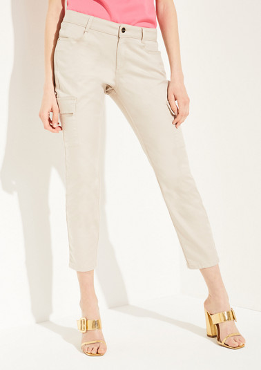 Regular Fit: ankle-length trousers in a cargo style from comma