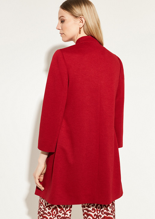 Short coat made of textured jersey from comma
