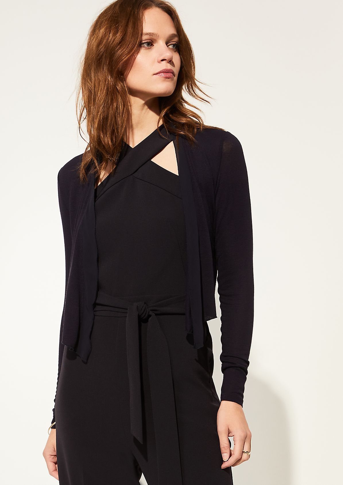 Lightweight jacket with a chiffon trim from comma
