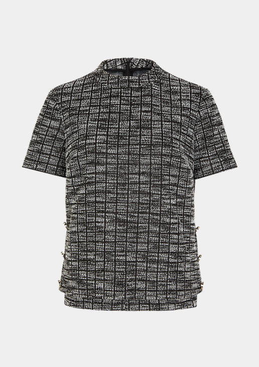 Shirt mit glänzenden Zierknöpfen