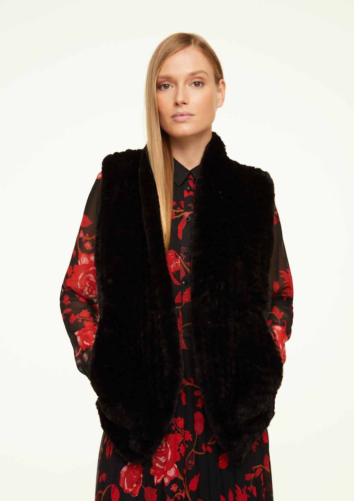 Soft faux fur bodywarmer from comma