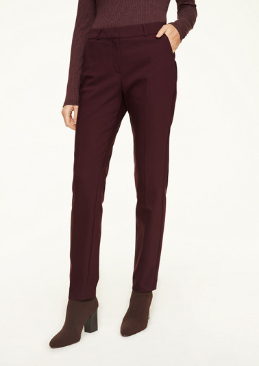 Stretch trousers with pressed pleats from comma