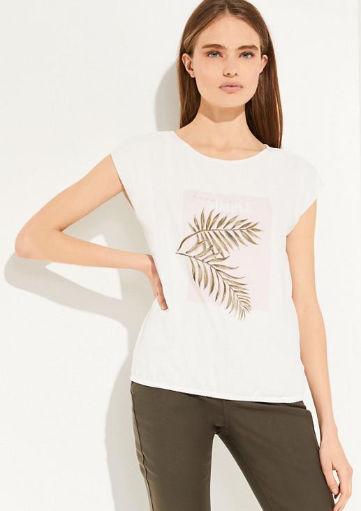 Shirt mit Chiffon-Front