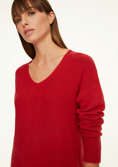Jumper with a knit pattern from comma