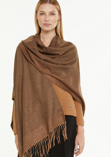 Cape made of super soft twill fabric from comma
