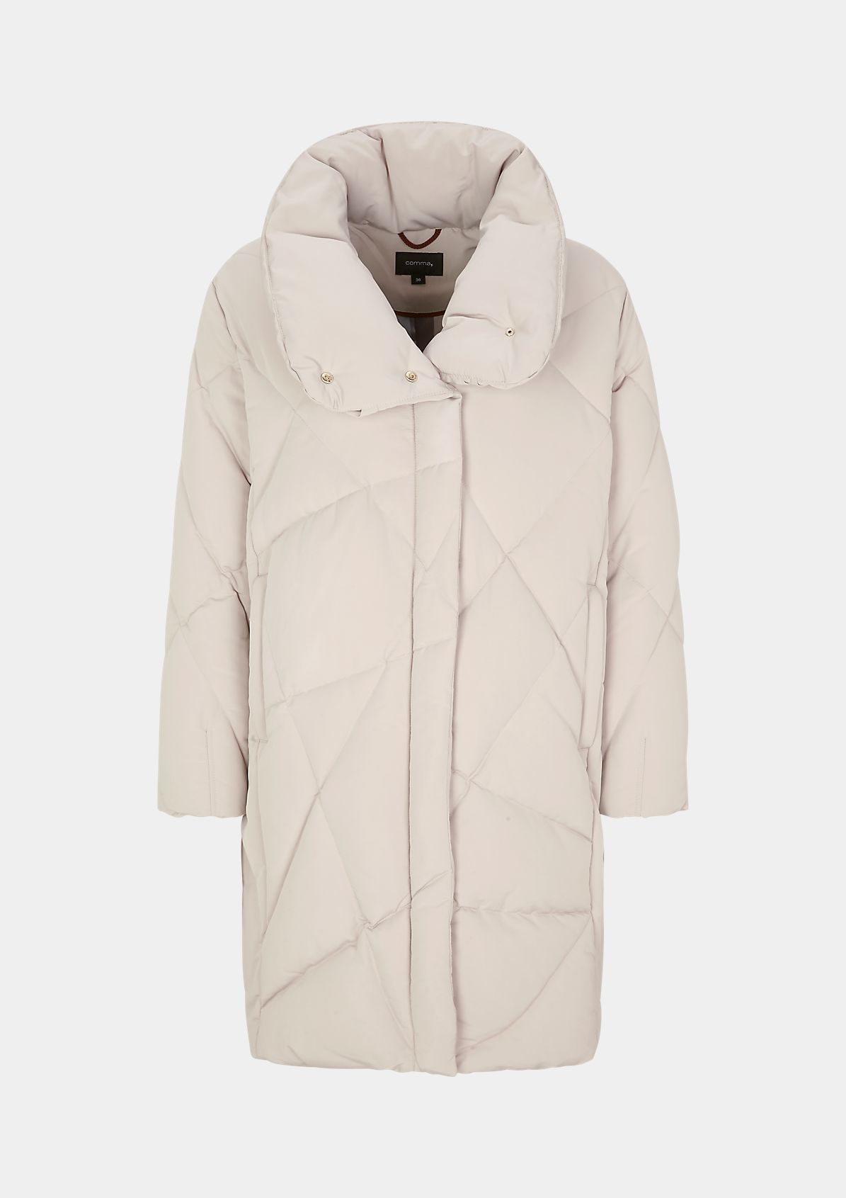 Gesteppter Mantel mit Stehkragen