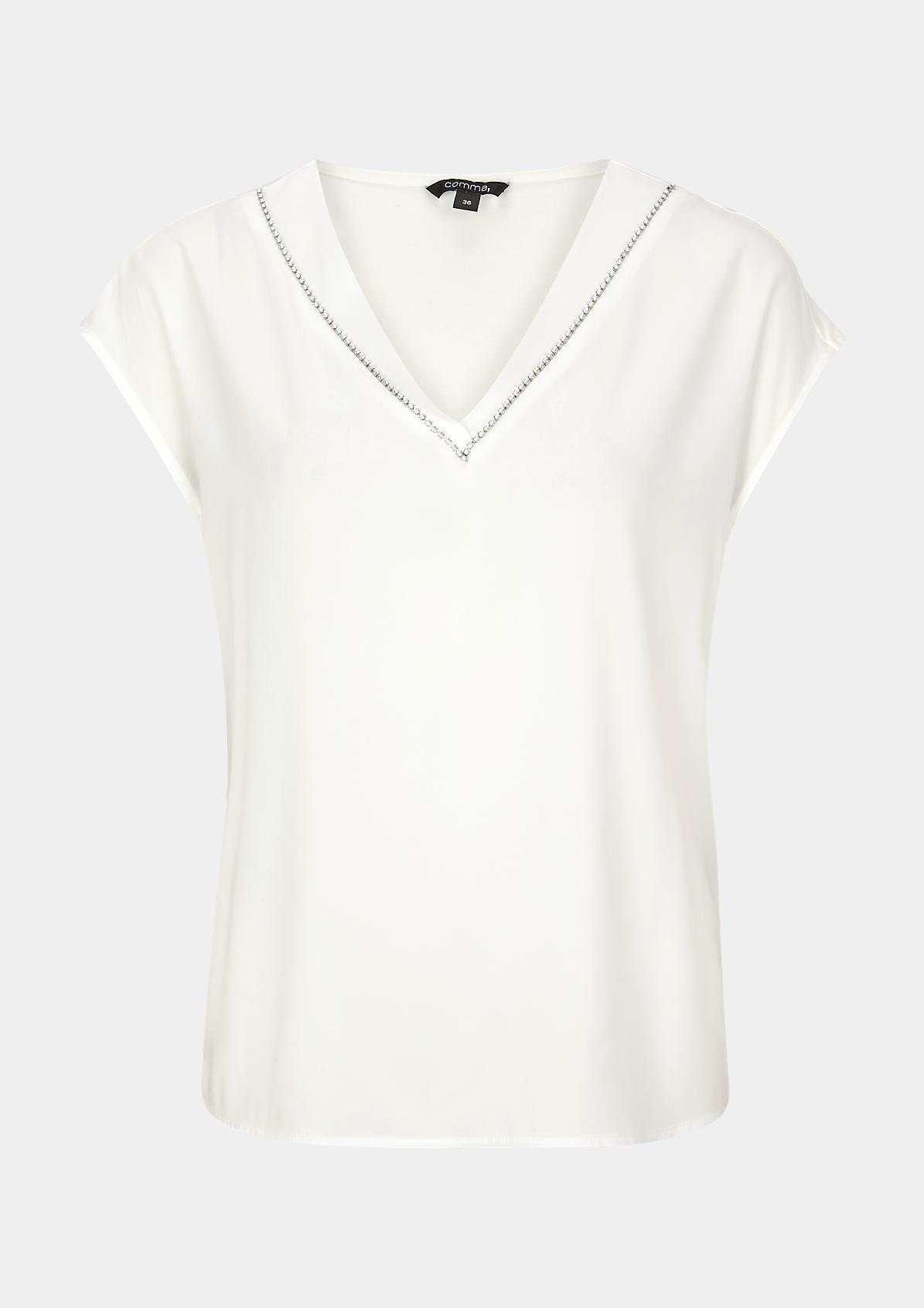 Fabricmix-Shirt mit Applikation