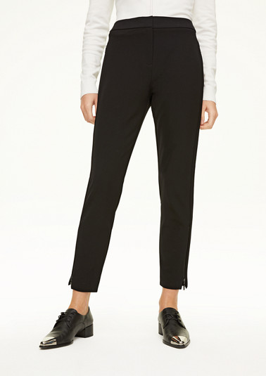 Slim fit: trousers with zip detail from comma