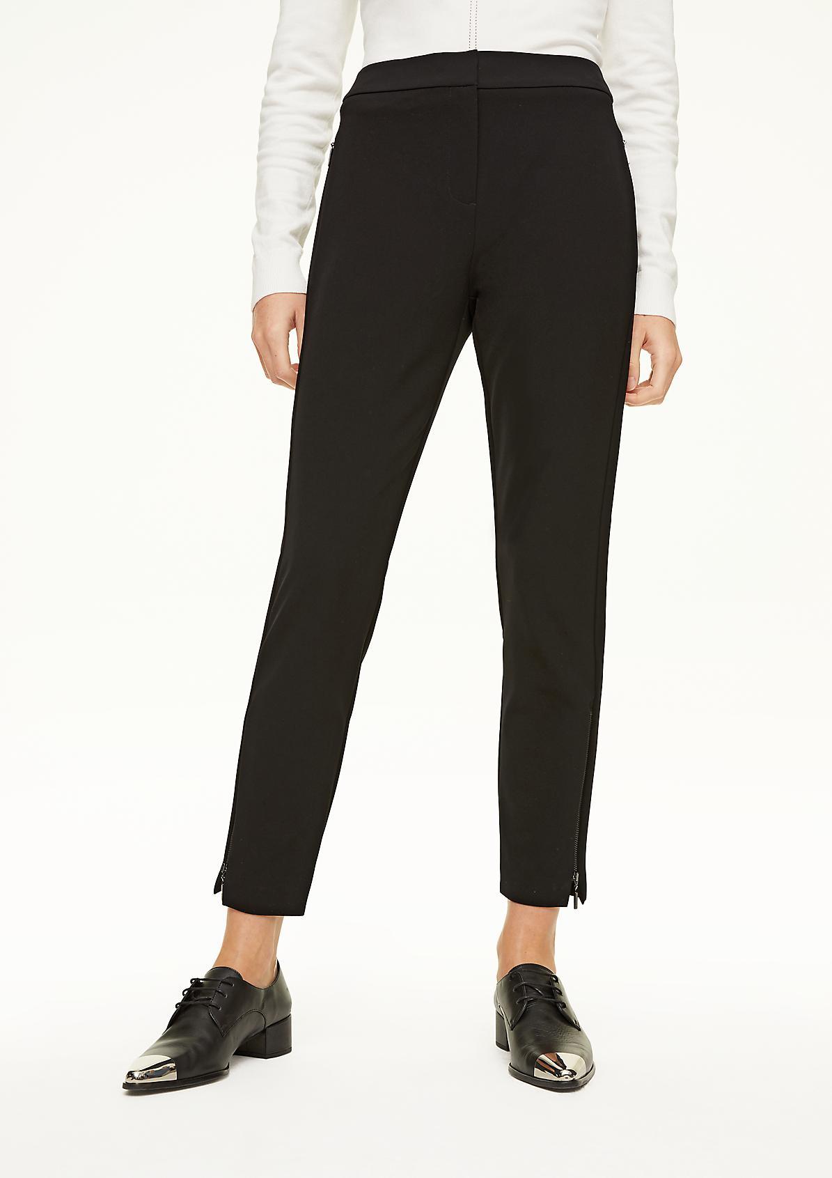 Slim Fit: Hose mit Reißverschluss-Detail