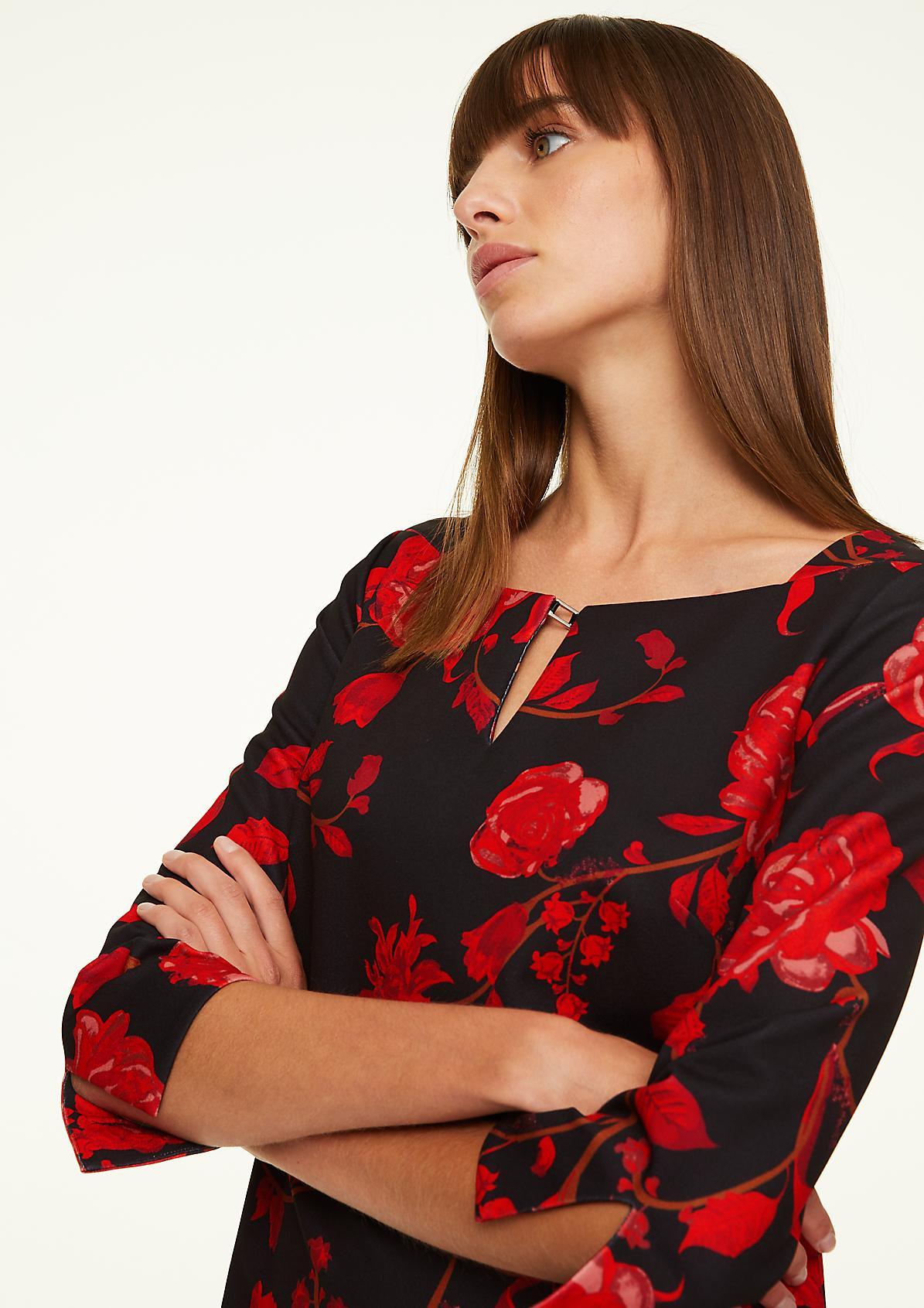 Jerseykleid mit floralem Print