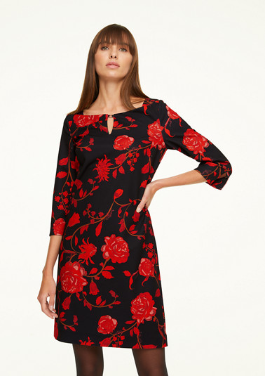 Jersey dress with a floral print from comma