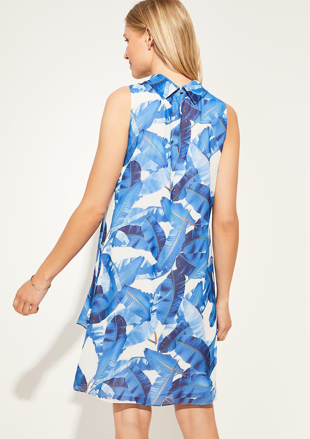 Chiffon-Kleid mit Volants