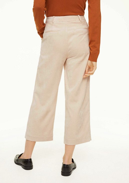 Regular Fit: Culotte aus Cord