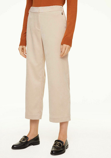 Regular fit: corduroy culottes from comma