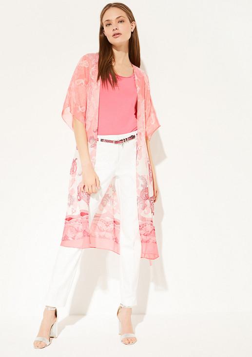 Chiffon-Kimono mit Paisley-Print