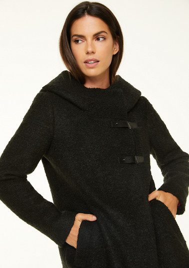 Long jacket with cosy hood from comma