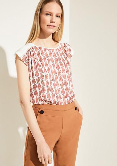 Shirt im Fabric-Mix