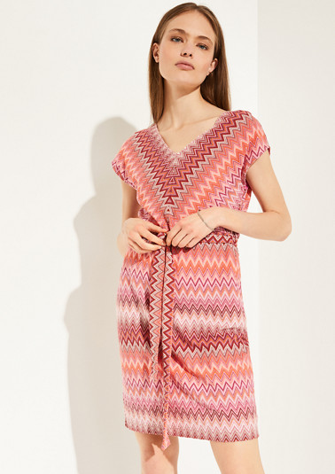 Lightweight dress with a knitted pattern from comma