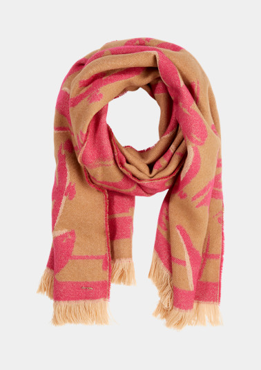 Scarf made of double-faced woven fabric from comma