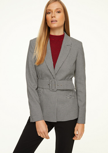 Houndstooth blazer from comma