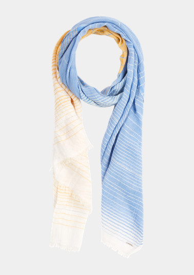 Woven scarf with glitter yarn from comma