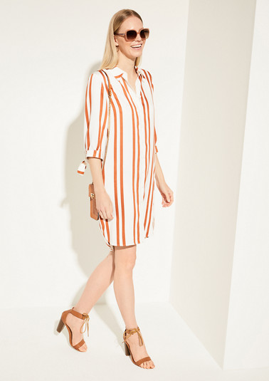 Dress with stripes from comma