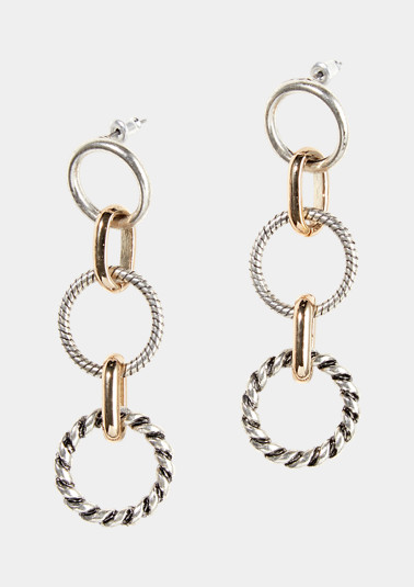 Stud earrings in a two-tone design from comma