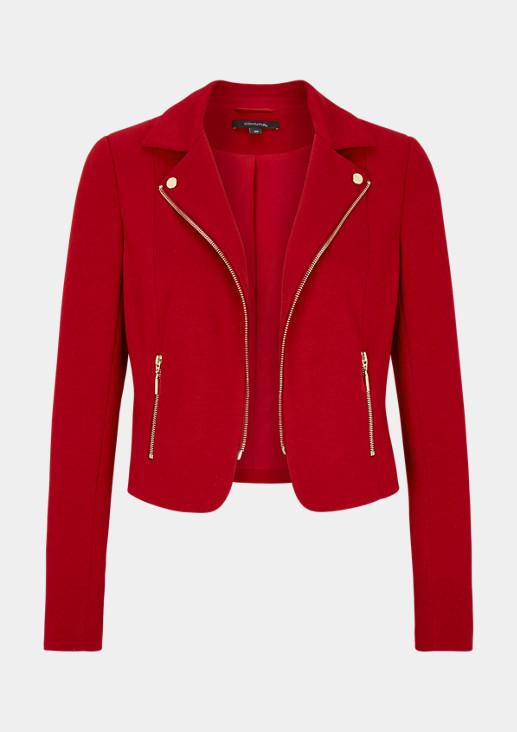 Biker Jacket aus Piqué-Jersey