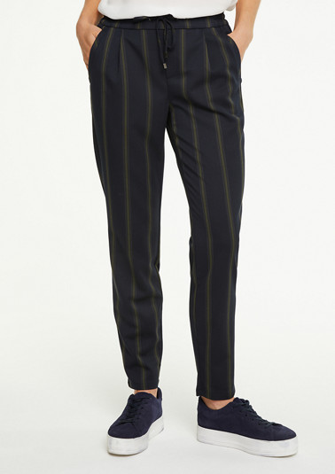 Trousers with striped pattern from comma