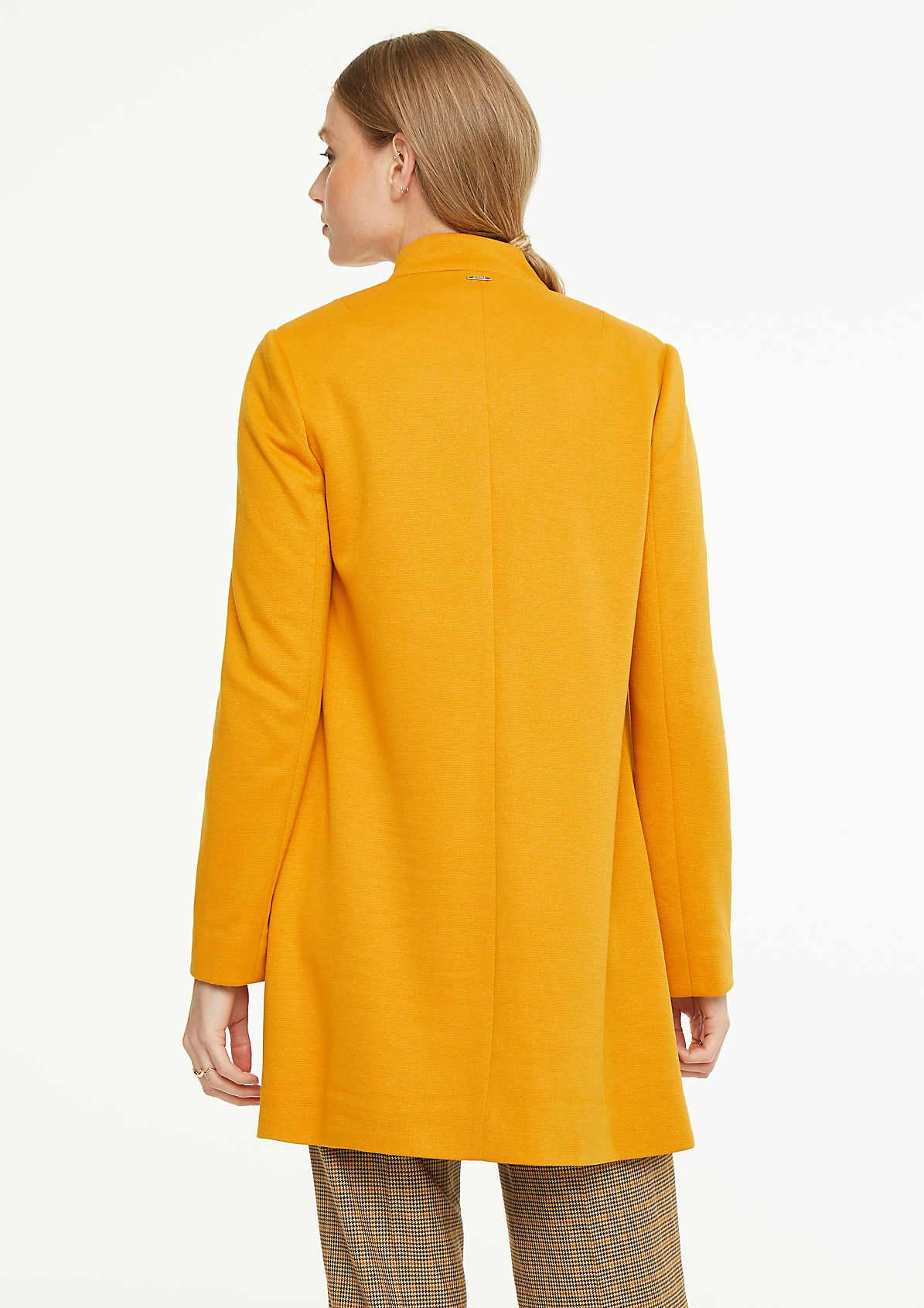 Coat with a stand-up collar from comma