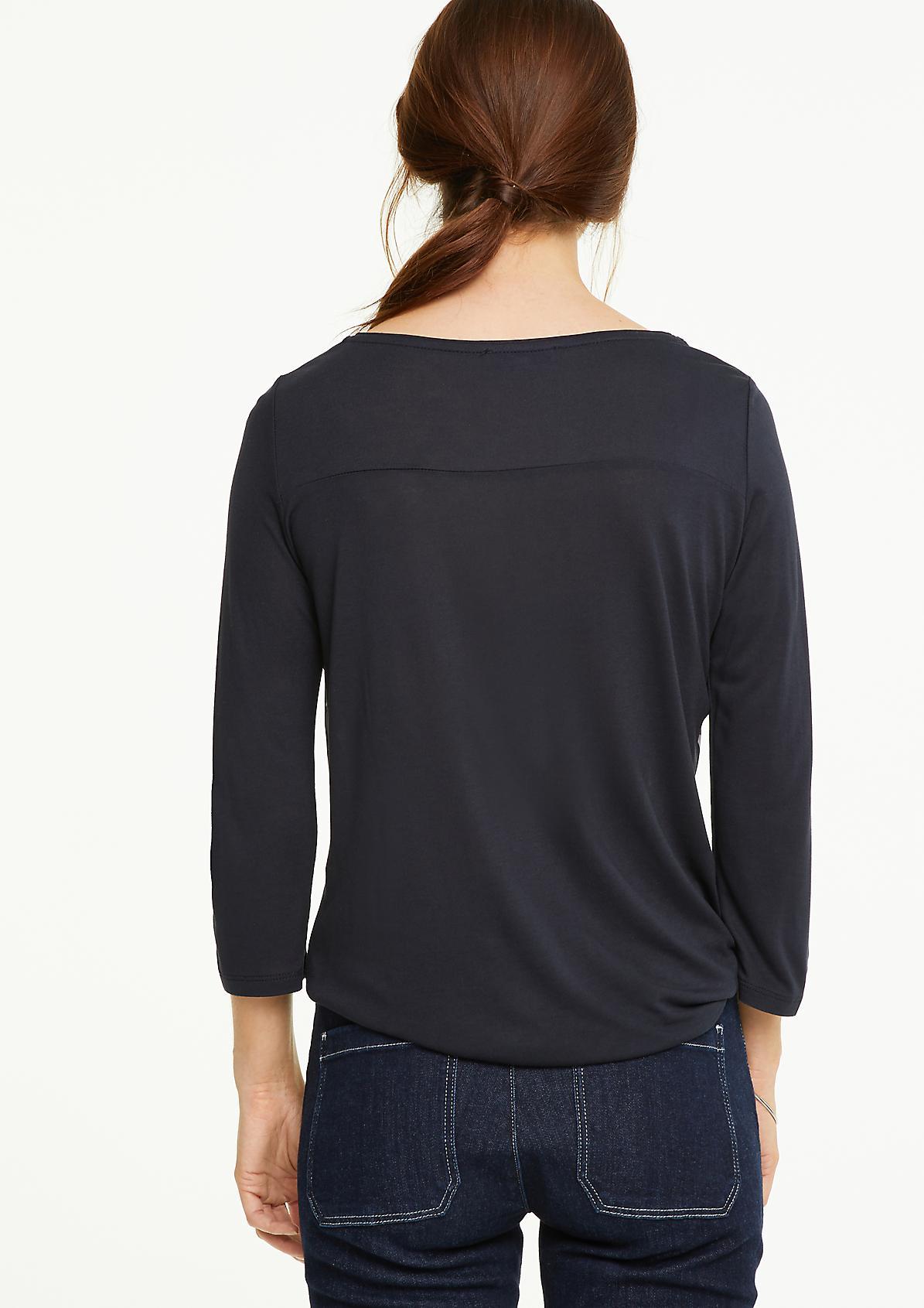 Shirt mit gemusterter Blusenfront