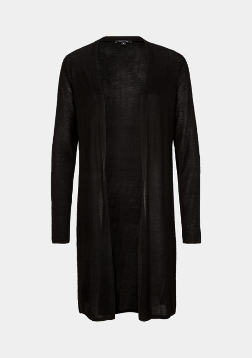 Lange Jacke aus Feinstrick