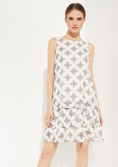 Chiffon-Kleid mit Allover-Print