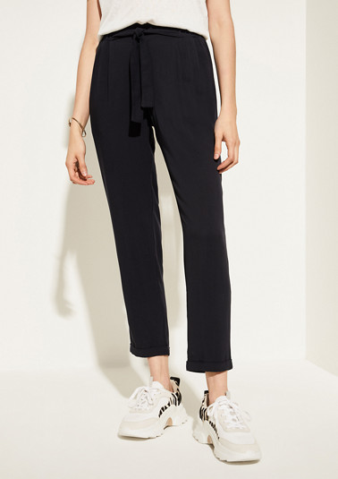 Regular Fit: cloth trousers with an elasticated waistband from comma