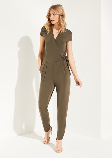 Cache coeur jumpsuit in elegant jersey from comma