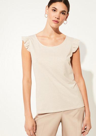 Jerseyshirt mit Metallic-Streifen