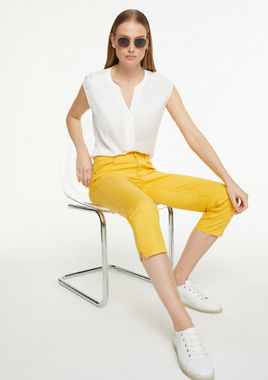 Slim fit: plain-coloured capri jeans from comma