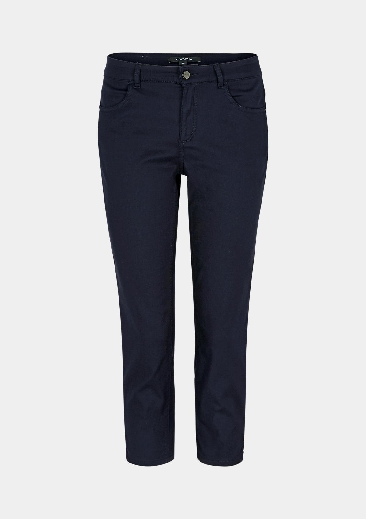 Slim Fit: Capri-Jeans in Unicolor