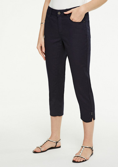 Slim Fit: Capri-Jeans in Unicolor