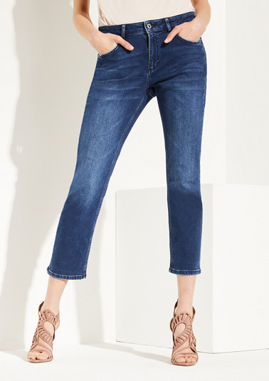 Regular Fit: straight leg cropped jeans from comma
