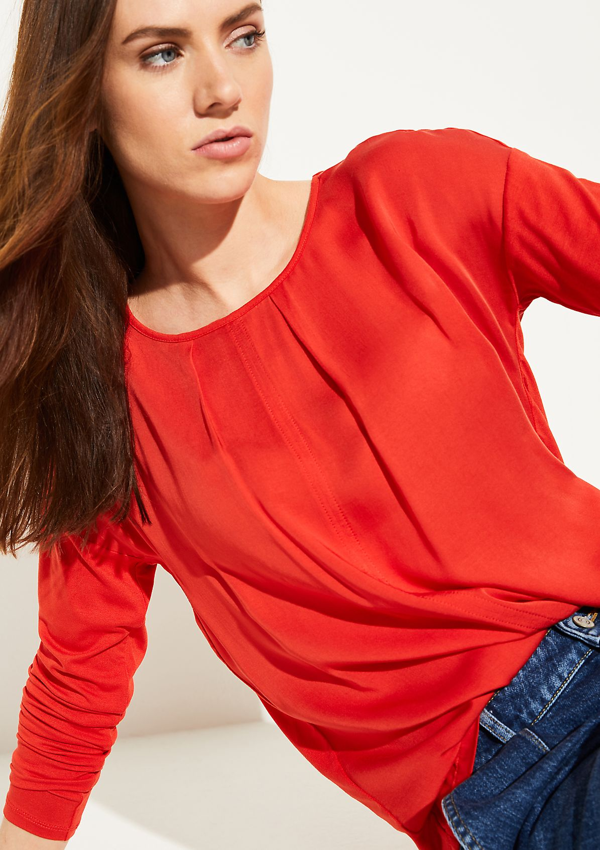 Shimmering long sleeve top from comma