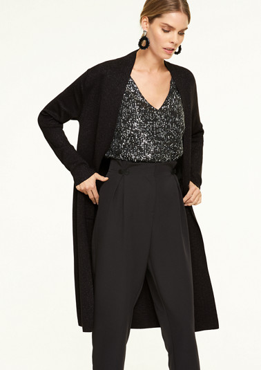 Fine knit cardigan with glitter effect from comma