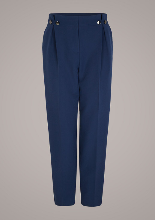 Regular fit: Trousers with a paperbag waistband from comma
