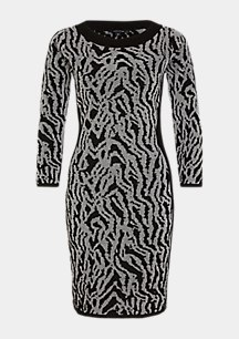 Elegantes Kleid mit Glitzergarn