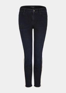 Skinny Fit: Jeans mit Tape-Detail