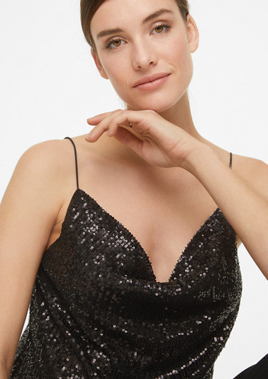 Top with a cowl neckline from comma