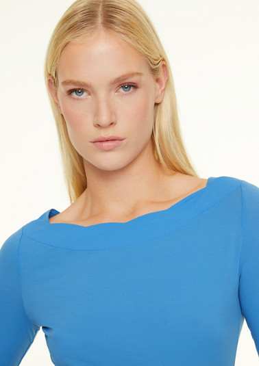 Jersey top with bateau neckline from comma